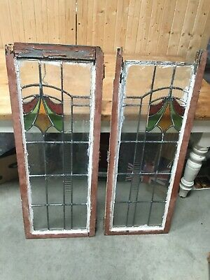 Antique Stained Glass Windows Old Antique Leaded.