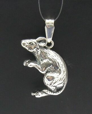 Extravagant Sterling Silver Pendant Rat Mouse 3D Solid 925 New Charm Empress