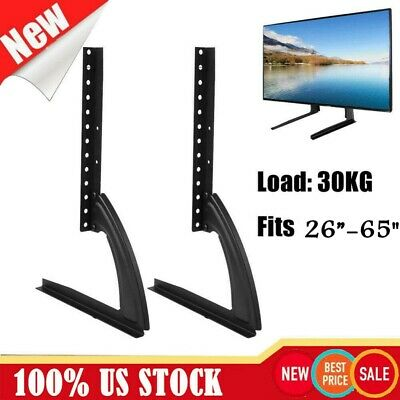 "2pcs Tabletop Universal TV Stand Base Fits 22""-65/"" Pedestal Mount Monitor Riser"
