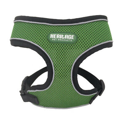 Heritage Soft Reflective Mesh Dog Harness Fabric Pet Adjustable Puppy Breathable