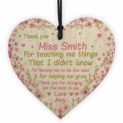 Personalised Teacher Thank You Gifts School Nursery Pre School Leaving Present