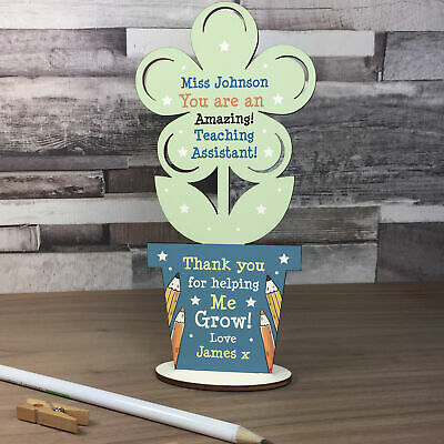 Personalised Teacher Assistant Gifts Thank You Flower School Nursery Pre School