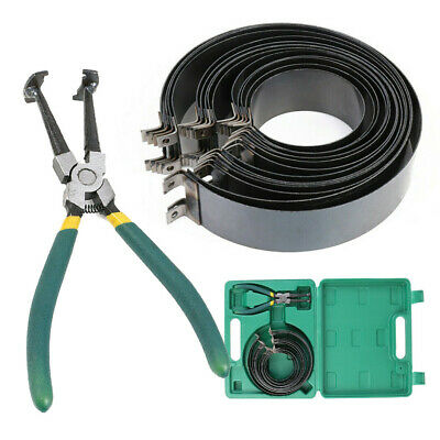 Professional 14Pcs Piston Ring Compressor with Ratcheting Plier & Carrying Case