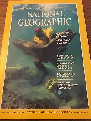 1985 Vintage National Geographic Magazine - July Vol. 168 No. 1 Basque Whaling