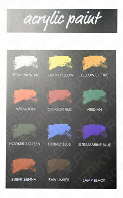 Genuine Colore High Quality Artist Acrylic Paints [12ml] Choose from 12 Colours