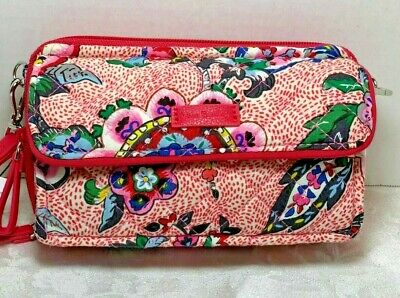 4dc5d5322 Vera Bradley Stitched Flowers Iconic RFID All In One Crossbody NWT40% OFF
