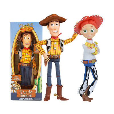 AU Toy Story 4 Woody Jessie 38CM Doll Talking Voice Action Figure Kids Toy Gift
