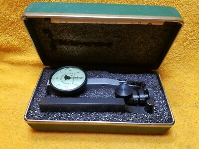 "Federal Testmaster T-2 Machinist Tools Dial Indicator .0001"" Graduation In Case"