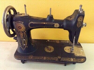 Vintage Antique Western Electric Cast Iron Early Sewing Machine