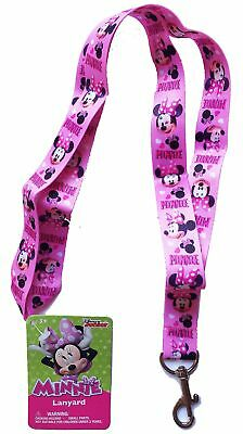 UPD Disney Minnie Mouse Bowtique Lanyard Keychain (Pink)