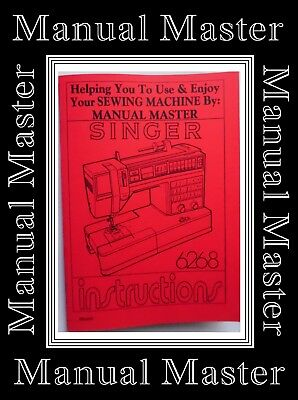 SINGER 6268 ZigZag Sewing Machine Operating / User Instruction Manual Booklet