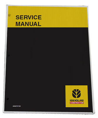 NEW HOLLAND E30B,E35B Excavator Service Manual Repair Technical Shop Book
