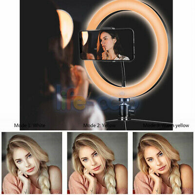Selfie LED Ring Light Dimmable Tripod Stand Lamp For Studio Photo Video Selfie