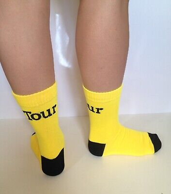 Official Tour De France Cycle Sock Yellow Tour Cycling Bike Brand New