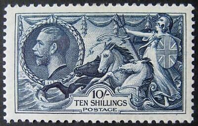 GV 1934 re-engraved 10/-Seahorse, good UNMOUNTED mint. Sg.452. Cat £500