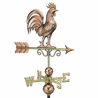 Arrow Directional Weathervane Roof Mount Rooster Chicken Vintage Pure Copper
