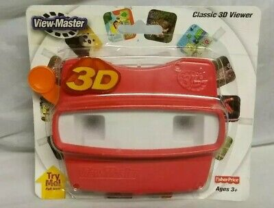 FisherPrice View Master 3D Viewer Red Classic Viewmaster Toy Slide Viewer