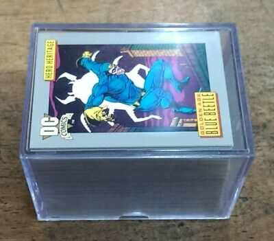 DC Comics 1991 Impel Trading Cards COMPLETE 180 Card Set / SUPERMAN /  BATMAN