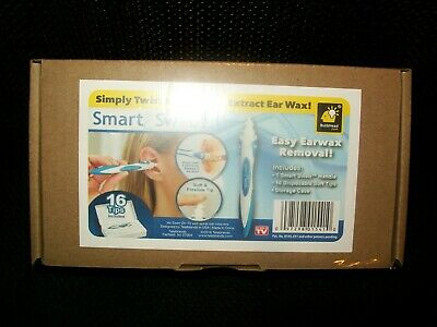 Smart Swab Disposable Ear Wax Cleaner System with 16 Replacement Heads