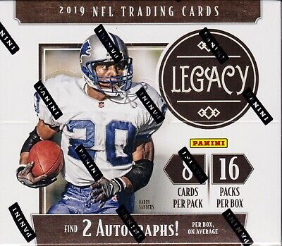 2019 Panini Legacy Football sealed hobby box 16 packs of 8 NFL cards 2 auto