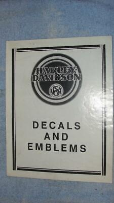 "1990 Harley Davidson Motorcycle Decals & Emblems Supplement 8 1/2"" x 11"""