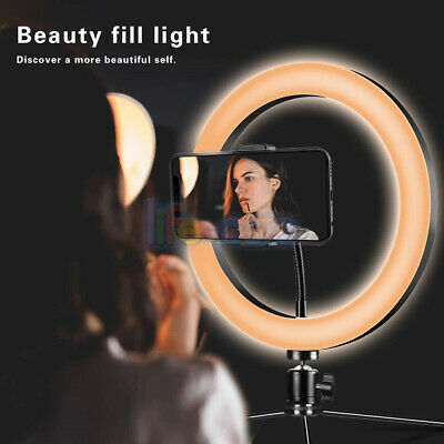 6 inch LED Ring Light 2M Adjustable Stand Studio Photo Video Selfie Live Camera