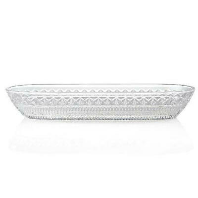 "Marquis by Waterford Laurence 15.25"" Cross & Wedge Cut Crystal Baguette Tray"