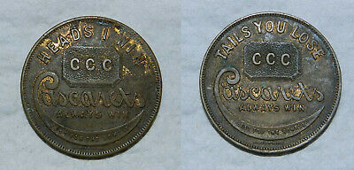 U.S.A.  CASCARETS TOKEN  Circa 1900 - Heads I win, Tails You Lose
