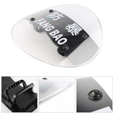 CS Military PC Round Anti-Riot Circular Shield Police Tactical Security Tool