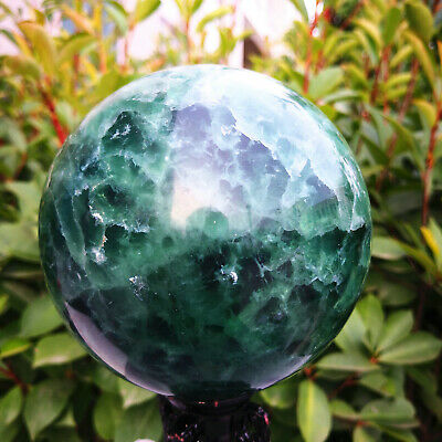 5.67LB   Natural beautiful crystal fluorite ball quartz crystal wand healing