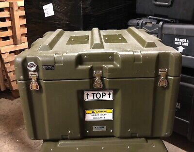 Genuine Us Army Large Zero Case Custom Pelican Type Waterproof Ex Cond !!!!