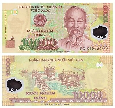 Vietnam 10000 Dong 2008 Polymer P-119c Banknotes UNC