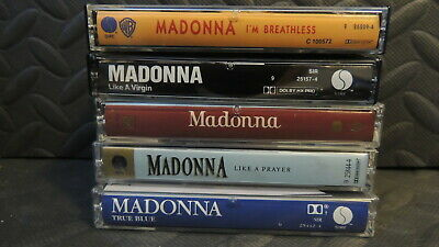 Madonna Cassette Tape Collection Of 5 Very Cool And Retro See Pics All Shown