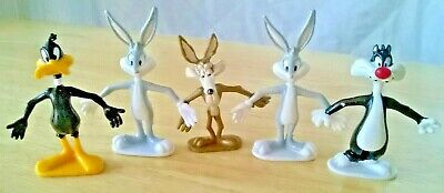 Russell Stover 1996 Looney Tunes Figures Bugs Daffy Sylvester Cat Wile E Coyote
