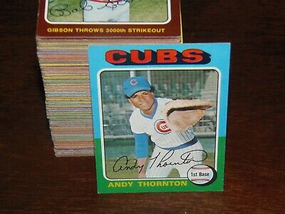 1975 Topps Baseball Card Set Lot (You Pick 15) Nice Condition Fill Your Set NOW!