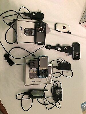 6 Cell phone lot Intensity I & II  Motorola 5 with chargers Virgin mobile parts