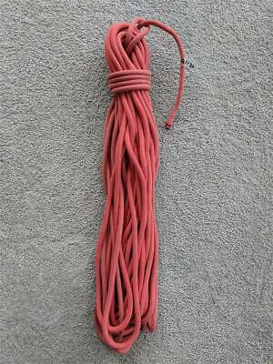 *USED* 8mm x 25m Polyester Boat Yacht Sailing Rope - Solid Red, Condition 6/10