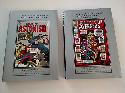 Marvel Masterworks Ant-Man Giant-Man Vol. 1 and Avengers Vol. 5 Hardcover HC Set