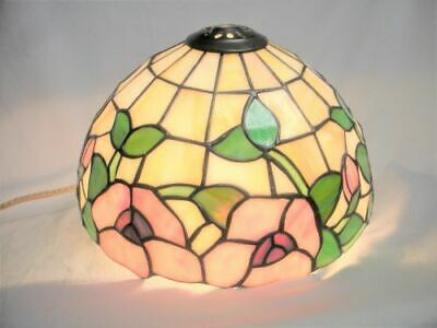Leaded Stained Slag Glass Dome Lamp Shade Arts & Crafts Tiffany Style 10 1/4""