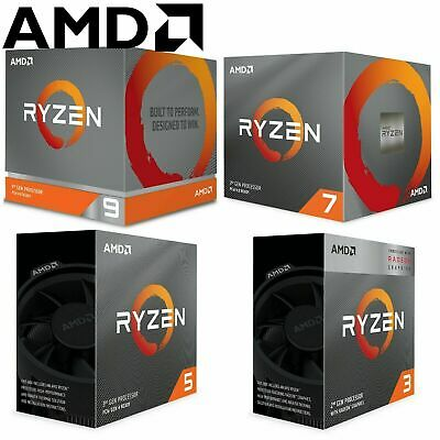 NEW AMD Ryzen 3 5 7 9 3600 3700X 3800X 3900X AM4 Desktop Computer CPU Processor