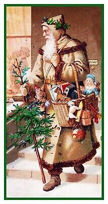 Victorian Father Christmas Santa Claus # 601 Counted Cross Stitch Pattern