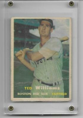 Ted Williams 1957 Topps Vintage Card #1 Boston Red Sox Hall Of Fame HOF