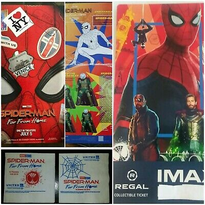 Spider-Man Far from Home movie IMAX ticket + Poster + 2 x Napkins - very rare