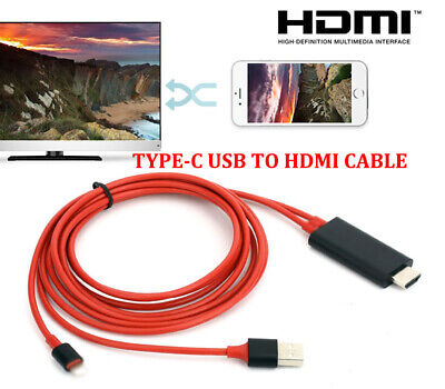 USB3.1 Type-C USB-C to HDMI With Charging Cable Adapter for Samsung Galaxy S8 S9
