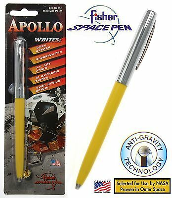 Fisher Space Pen #S251-Yellow Apollo Series pen in Yellow & Chrome
