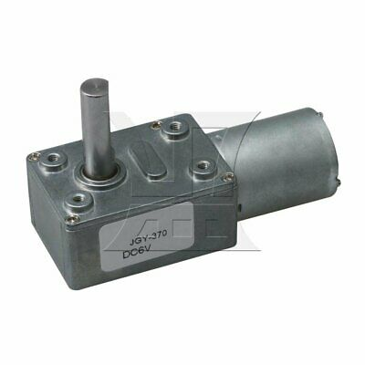 JGY370 DC6V 10rpm Worm Gear Motor High Torque Speed Reduction Motor 8mm Shaft