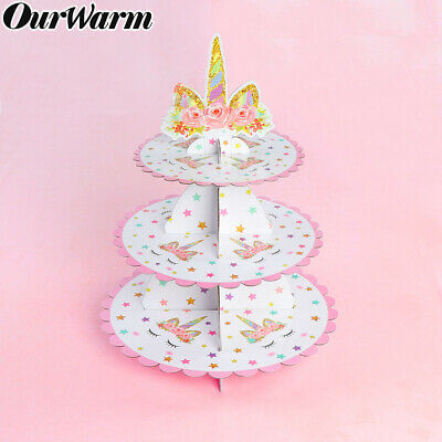 3 Tier Unicorn Cupcake Stand Cup Cake Display Kid Birthdy Party Cake Party Decor