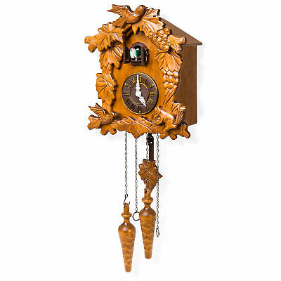 BCP Handcrafted Wooden Cuckoo Clock - Orange