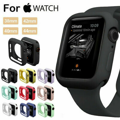 For Apple Watch Series 5 4 3 2 1 Bumper Silicone Protector Case Cover 38/42/44mm