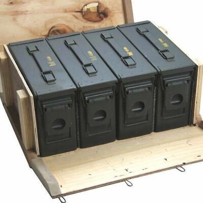 Ammo Cans / Ammo Box in Military Surplus Wood Ammo Crate 4 - M19A1 30cal